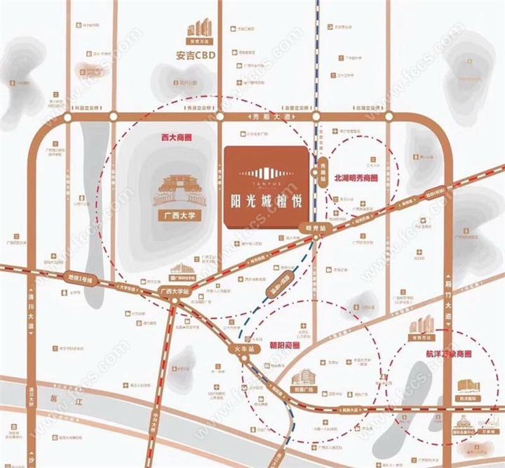 阳光城檀悦区位图