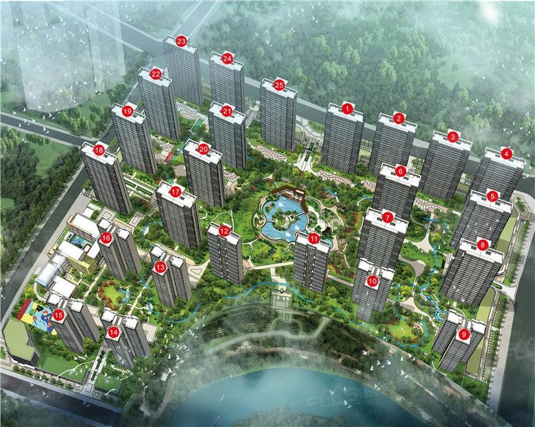 中信国安北海第一城·翡丽湾鸟瞰图
